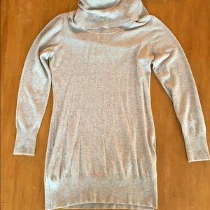 Light tan Cyrus turtleneck sweater dress